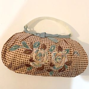 Vintage silk handbag